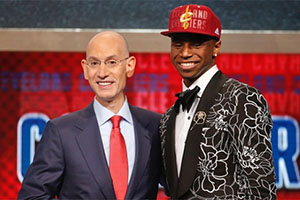 Adam Silver and Andrew Wiggins