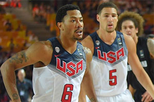 Derrick Rose and Klay Thompson
