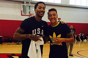 Derrick Rose and Mesut Ozil
