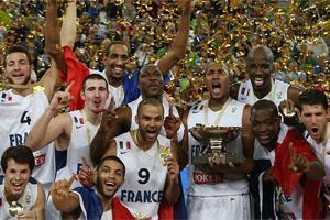 EuroBasket 2013 France Team Celebration