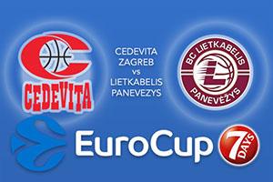 Bet on Cedevita Zagreb v Lietkabelis Panevezys - Eurocup Betting Tips