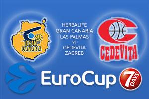Bet on Herbalife Gran Canaria Las Palmas v Cedevita Zagreb - Eurocup Betting Tips