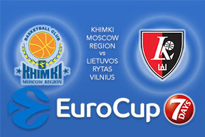 Bet on Khimki Moscow Region v Lietuvos Rytas Vilnius - Eurocup Betting Tips