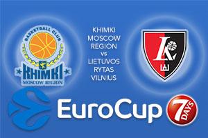 Bet on Khimki Moscow Region v Lietuvos Rytas Vilnius - Eurocup Betting Tips