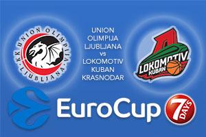 Bet on Union Olimpija Ljubljana v Lokomotiv Kuban Krasnodar - Eurocup Betting Tips