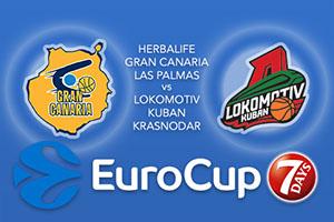 Herbalife Gran Canaria Las Palmas v Lokomotiv Kuban Krasnodar