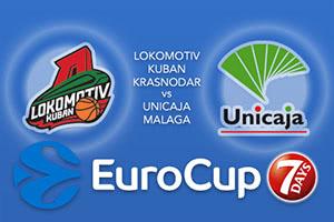 Lokomotiv Kuban Krasnodar v Unicaja Malaga