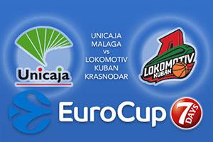 Unicaja Malaga v Lokomotiv Kuban Krasnodar