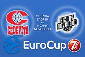 Cedevita Zagreb v Nizhny Novgorod - Eurocup Betting Tips