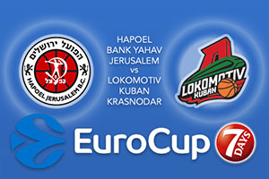 Hapoel Bank Yahav Jerusalem v Lokomotiv Kuban Krasnodar - Eurocup Betting Tips