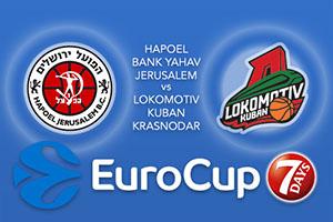 Hapoel Bank Yahav Jerusalem v Lokomotiv Kuban Krasnodar - Eurocup Betting Tips