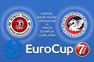 Hapoel Bank Yahav Jerusalem v Union Olimpija Ljubljana