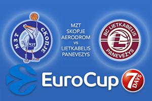 MZT Skopje Aerodrom v Lietkabelis Panevezys - Eurocup Betting Tips