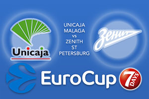 Unicaja Malaga v Zenit St Petersburg - Eurocup Betting Tips