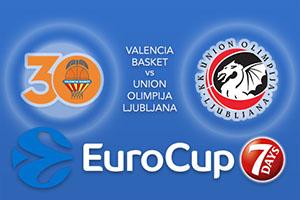 Valencia Basket v Union Olimpija Ljubljana - Eurocup Betting Tips