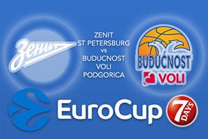 Zenit St Petersburg v Buducnost VOLI Podgorica - Eurocup Betting Tips