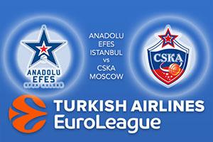 Euroleague Predictions – Anadolu Efes Istanbul v CSKA Moscow