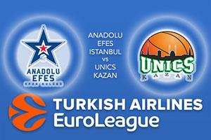 Anadolu Efes Istanbul v UNICS Kazan - Euroleague Betting Tips