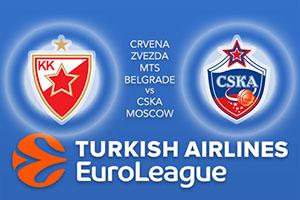 Crvena Zvezda mts Belgrade v CSKA Moscow