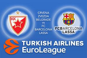 Euroleague Predictions – Crvena Zvezda mts Belgrade v FC Barcelona Lassa