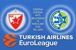 Crvena Zvezda mts Belgrade v Maccabi FOX Tel Aviv