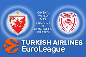 Crvena Zvezda mts Belgrade v Olympiacos Piraeus