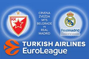 Crvena Zvezda mts Belgrade v Real Madrid