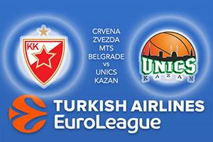 Crvena Zvezda mts Belgrade v Unics Kazan