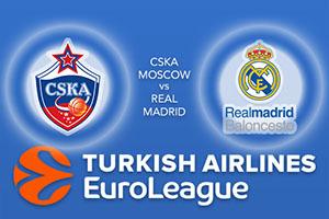 CSKA Moscow v Real Madrid - Euroleague Betting Tips