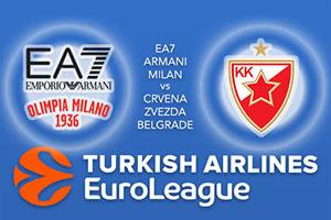EA7 Emporio Armani Milan v Crvena Zvezda mts Belgrade