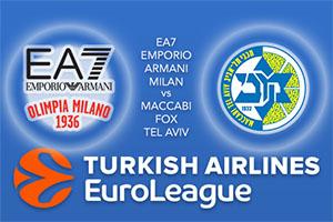 Euroleague Predictions - EA7 Emporio Armani Milan v Maccabi Fox Tel Aviv