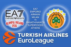 EA7 Emporio Armani Milan v Panathinaikos Superfoods Athens