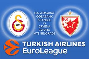 Euroleague Predictions - Galatasaray Odeabank Istanbul v Crvena Zvezda MTS Belgrade
