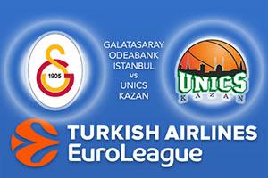Galatasaray Odeabank Istanbul v Unics Kazan