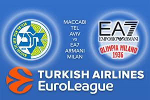 Maccabi Fox Tel Aviv v EA7 Emporio Armani Milan