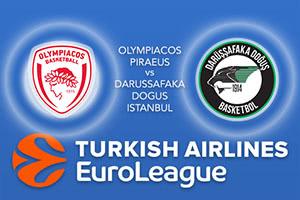 Olympiacos Piraeus v Darussafaka Dogus Istanbul