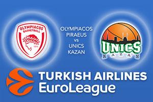 Olympiacos Piraeus v Unics Kazan