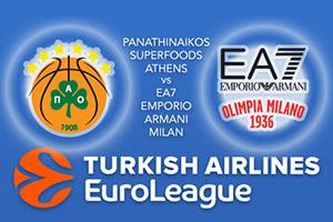 Panathinaikos Superfoods Athens v EA7 Emporio Armani Milan