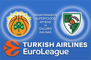 Euroleague Predictions - Panathinaikos Superfoods Athens v Zalgiris Kaunas