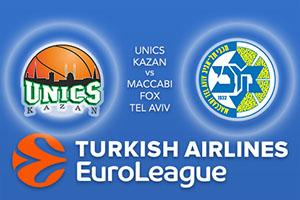 UNICS Kazan v Maccabi Fox Tel Aviv - Euroleague Betting Tips