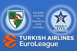 Zalgiris Kaunas v Anadolu Efes Istanbul