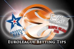 Anadolu Efes Istanbul v EA7 Emporio Armani Milan Betting Tips