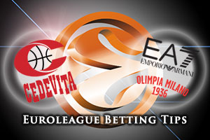 Cedevita Zagreb v EA7 Emporio Armani Milan Betting Tips