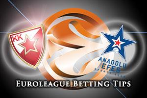 Crvena Zvezda Telekom Belgrade v Anadolu Efes Istanbul Betting Tips