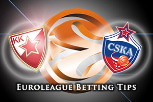 Crvena Zvezda Telekom Belgrade v CSKA Moscow Betting Tips