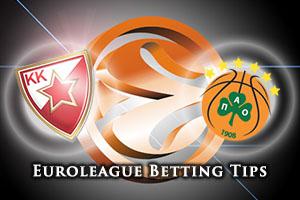 Crvena Zvezda Telekom Belgrade v Panathinaikos Athens Betting Tips