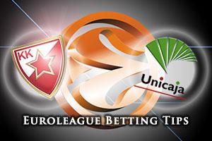 Crvena Zvezda Telekom Belgrade v Unicaja Malaga Betting Tips