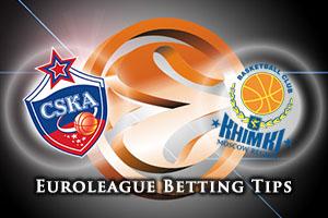 CSKA Moscow v Khimki Moscow Region Betting Tips