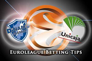 Dinamo Banco di Sardegna Sassari v Unicaja Malaga Betting Tips