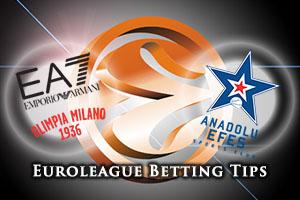 EA7 Emporio Armani Milan v Anadolu Efes Istanbul Betting Tips